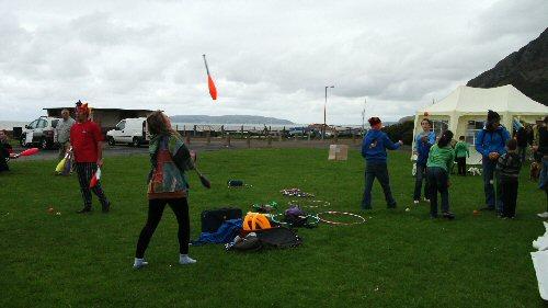 Juggling at Llanfairfestival